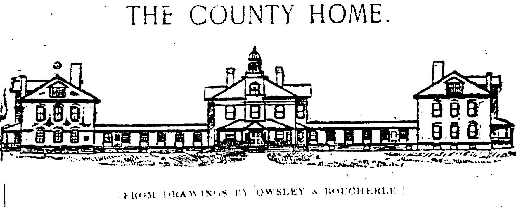 Depiction of the new Poor Farm house in 1899 newspaper